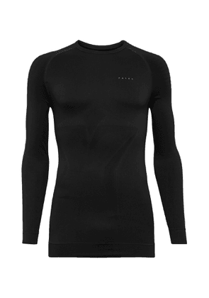 FALKE Ergonomic Sport System - Maximum Warm Stretch Tech-Jersey Ski T-Shirt - Men - Black