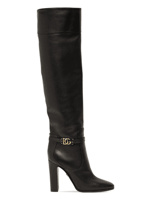 105mm Leather Tall Boots