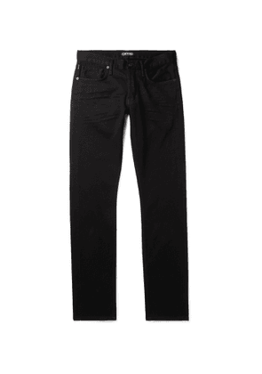 TOM FORD - Slim-Fit Stretch-Denim Jeans - Men - Black