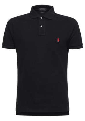 Classic Slim Fit Cotton Piqué Polo Shirt