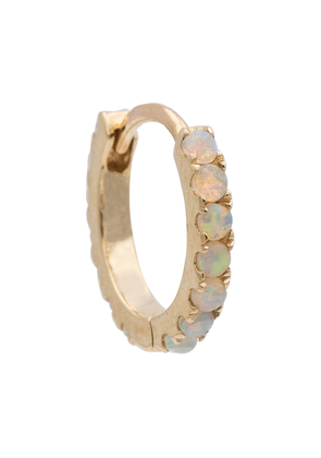 18kt gold single hoop earring with opals
