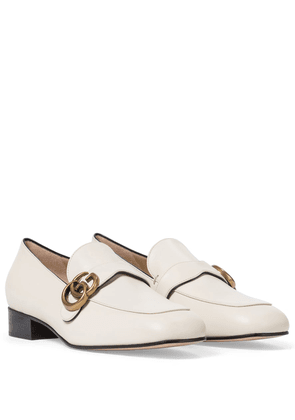 Double G leather loafers