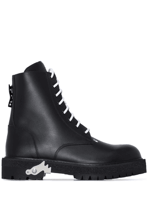 Off-White lace-up combat boots - Black
