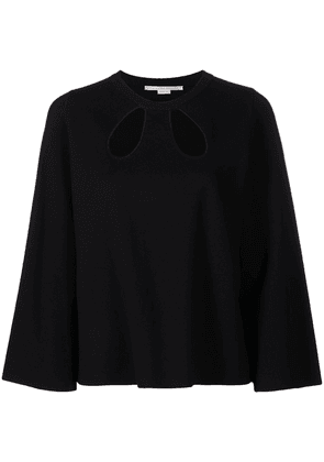 Stella McCartney cut-out long-sleeve blouse - Black