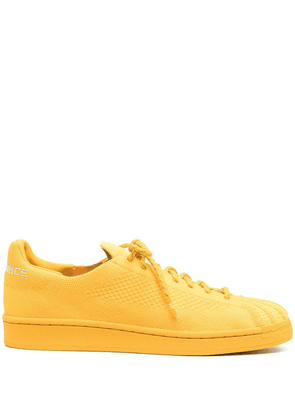 adidas by Pharrell Williams Superstar Primeknit lace-up sneakers - Yellow