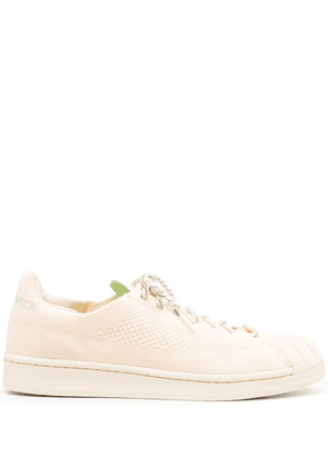 adidas by Pharrell Williams Superstar Primeknit lace-up sneakers - Neutrals