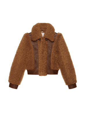 Curly shearling jacket