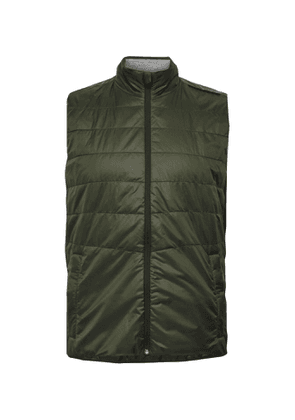 FALKE Ergonomic Sport System - Mesh-Trimmed Quilted Shell Gilet - Men - Green