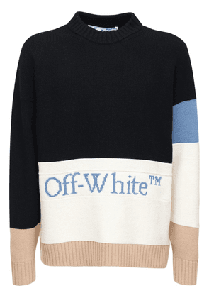 Color Block Wool Knit Sweater