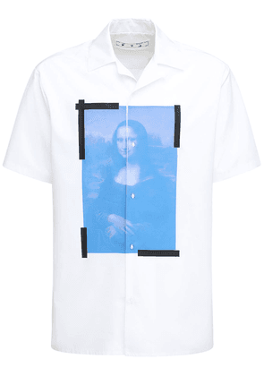Blue Monalisa Cotton Short Sleeve Shirt