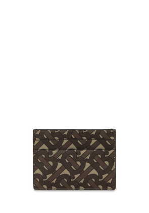 Tb Monogram Print E-canvas Card Holder