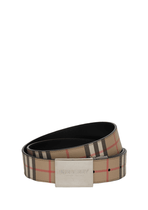 35mm Reversible Check E-canvas Belt