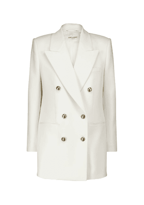 Double-breasted wool and cashmere blazer