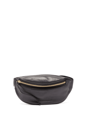 Jil Sander - Moon Logo-debossed Leather Belt Bag - Womens - Black