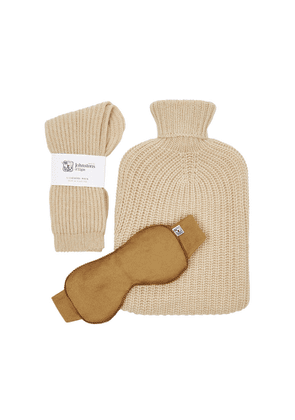 Johnstons Of Elgin Cashmere Socks, Hot Water Bottle And Eye Mask Gift Set