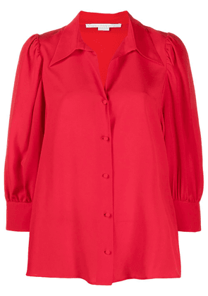 Stella McCartney pointed collar buttoned blouse - Red