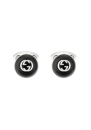 Gucci logo-plaque cufflinks - SILVER
