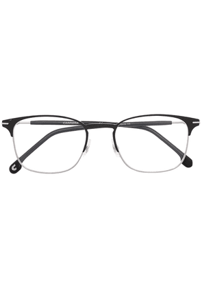 Carrera brushed stainless-steel square glasses - Black