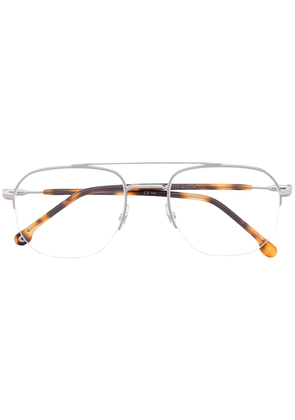 Carrera semi-rimless square glasses - SILVER