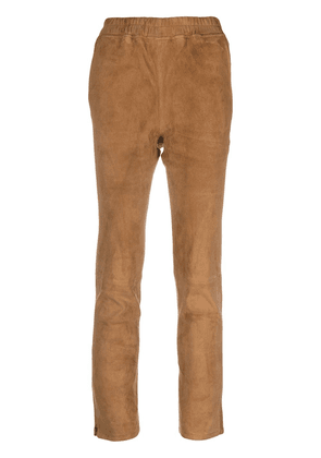 Arma lambskin leather skinny trousers - Brown
