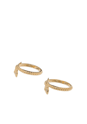 Foundrae 18kt yellow gold snake ring