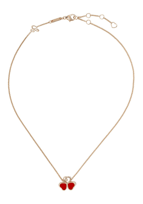 Chopard 18kt rose gold Happy Heart necklace - PINK