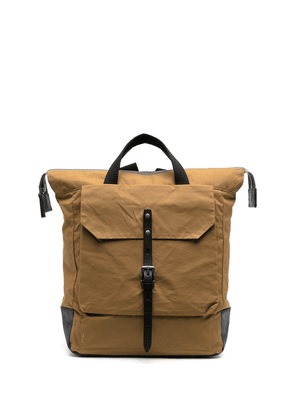 Ally Capellino Frances waxed cotton backpack - Brown
