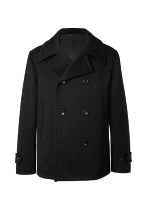 Camoshita - Double-Breasted Wool-Blend Coat - Men - Black