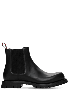 30mm Web Kyra Leather Chelsea Boots