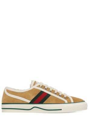 10mm Gucci Tennis 1977 Suede Sneakers