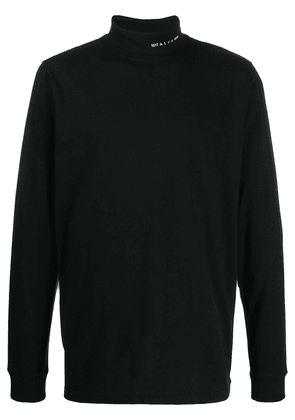 1017 ALYX 9SM embroidered logo roll neck - Black
