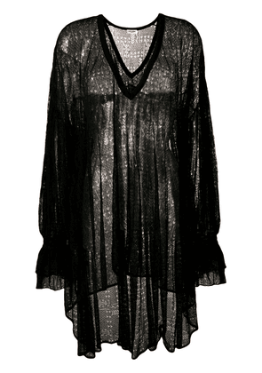 Saint Laurent oversized sheer blouse - Black