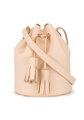 Building Block Peach tassel leather bucket bag - Neutrals