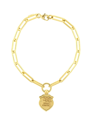 Foundrae 18kt yellow gold Adhuc Stantes fob clip bracelet
