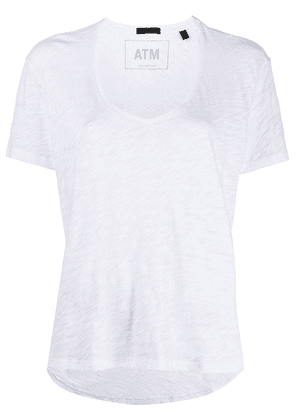 Atm Anthony Thomas Melillo boyfriend V-neck T-shirt - White