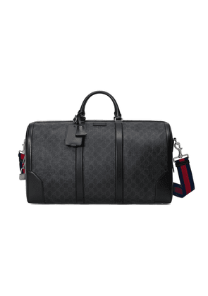 Gucci GG Supreme carry-on duffle bag - Black