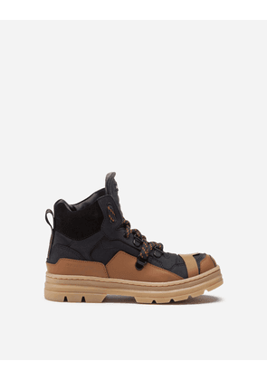 Dolce & Gabbana Shoes (24-38) - SUEDE AND CALFSKIN TREKKING BOOTS BLACK male 25