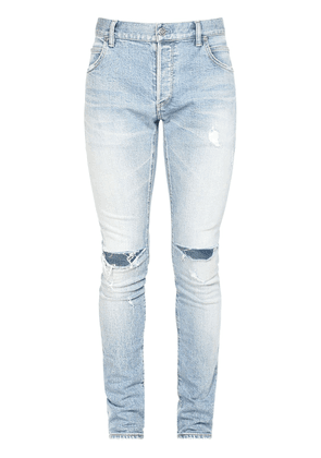 15cm Embroidered Distressed Slim Jeans