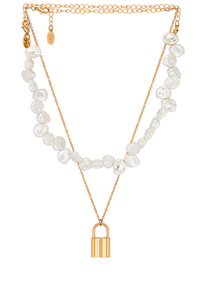 8 Other Reasons Island Girl Necklace in Metallic Gold.