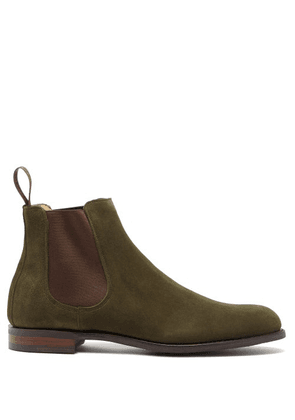 Cheaney - Godfrey Suede Chelsea Boots - Mens - Khaki