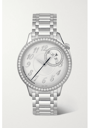 Vacheron Constantin - Egérie Automatic 35mm Stainless Steel And Diamond Watch - Silver