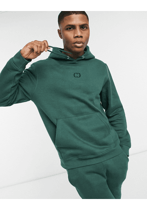 Criminal Damage eco essentials hoodie in khaki green