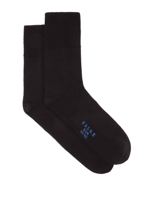 Falke - Run Cotton-blend Running Socks - Mens - Black