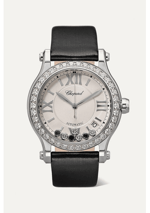 Chopard - Happy Sport Automatic 36mm Stainless Steel, Satin And Diamond Watch - Black