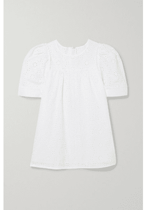 Chloé Kids - Ages 6 - 12 Broderie Anglaise Cotton Top - White