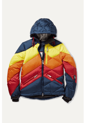Perfect Moment Kids - Ages 6 - 12 Superday Ii Striped Down Ski Jacket - Blue