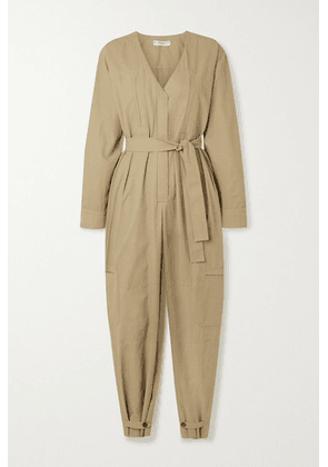 Givenchy - Belted Woven Jumpsuit - Beige