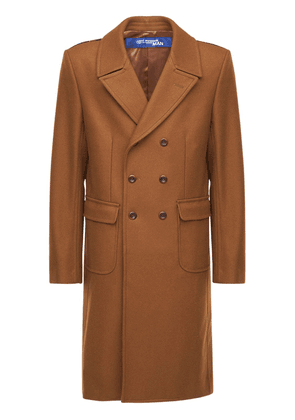 Wool Coat W/ Back Check