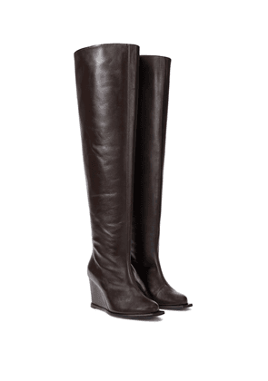 Sophisticated Chic leather over-the-knee boots
