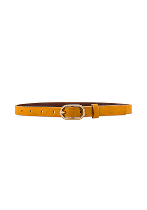 FRAME Petit Oval Buckle Belt in Brown. Size M, S.